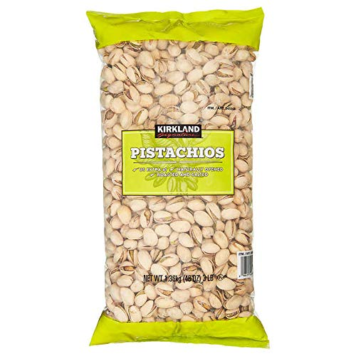 - Kirkland Signature California In-Shell Roasted & Salted Pistachios - 3 lbs (48 oz)