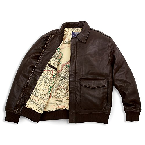 Cockpit Leather Jackets - Hammacher Schlemmer The Army Air Corps Leather Flight Jacket (Large, Size 42)