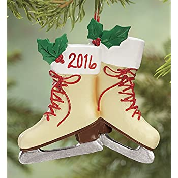 Fox Valley Traders Personalized Vintage Ice Skates Ornament - Fox Valley Traders Personalized Vintage Ice Skates Ornament