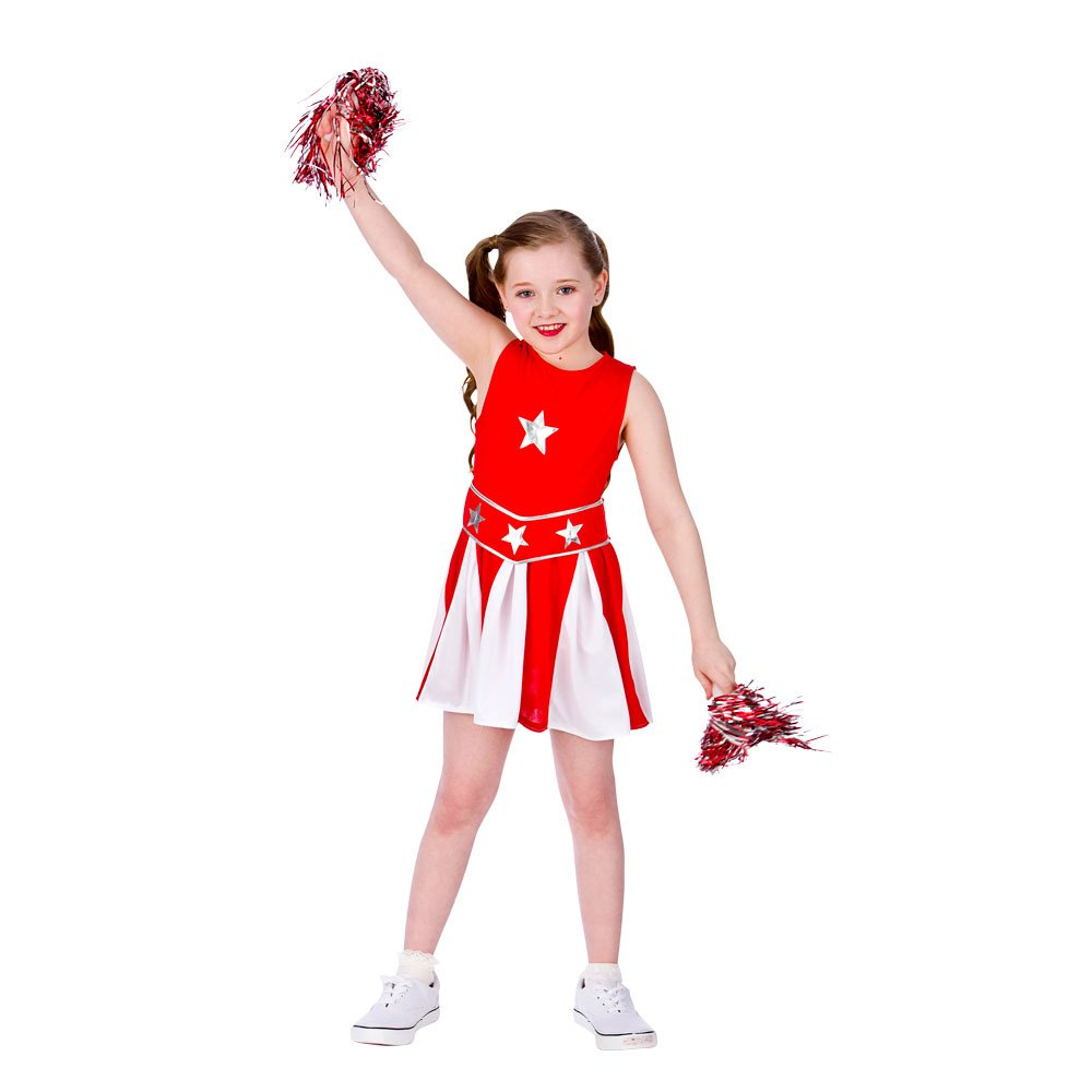 (L) Girls Cheerleader Costume for Sport Fancy Dress Childrens Kids Childs Large Age 8-10 years Red u0026 White Amazon.co.uk Toys u0026 Games  sc 1 st  Amazon UK & L) Girls Cheerleader Costume for Sport Fancy Dress Childrens Kids ...
