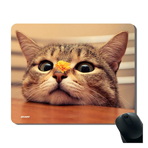 iFUOFF Mousepad, Nonslip Rubber Gaming Mouse Pad Mat Animal Series Cute Cat Design