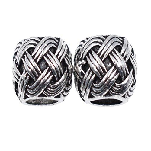 Kesheng 2Pcs Viking Knot Beads Charms Beard for