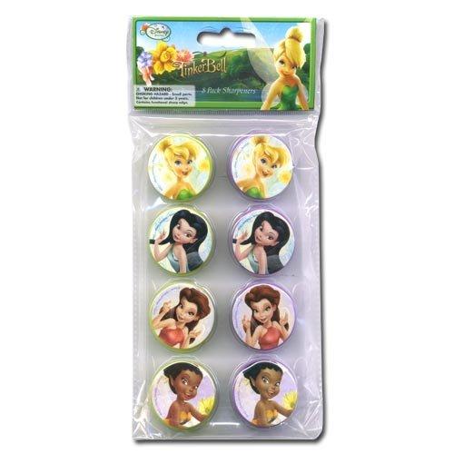 [Tinkerbell Sharpener Set Of 8 - Tinkerbell Fairies Eraser Set [Toy]] (Tinkerbell Erasers)