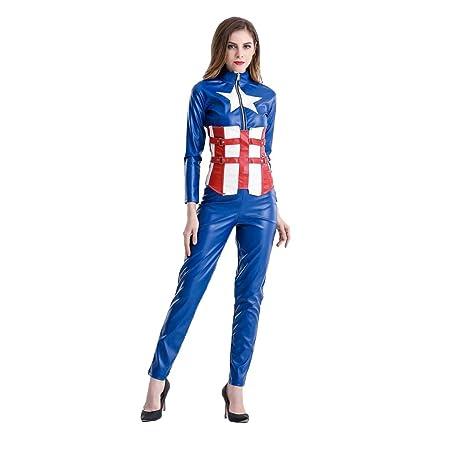 QQWE De Las Mujeres Capitán América Cosplay del Traje de ...