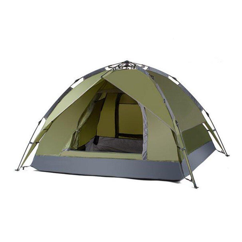 Hlxx Camping Automatische Zelt Im Freien 3-4 Doppel-Strand-Zelt,Sapphire