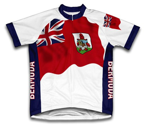 ScudoPro Bermuda Flag Short Sleeve Cycling Jersey for Men - Size 3XL