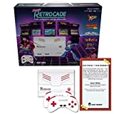 Retro Bit Super RetroCade Plug & Play Classic Game Console with BONUS [1 Year Geek Theory Warranty] - Packed with over 90 Popular Arcade and Console Titles (Red/White) - For NES, SNES