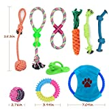 Dog Toys EZYKOO 10 Pieces Puppy Pet Toys with Cotton Rope Ball, Flying Disc, Plush and Chew Play Toys Perfect for Small and Medium Dogs