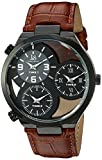 Joshua & Sons JX119TN Men's Quartz Metal and Leather Automatic Watch, Brown