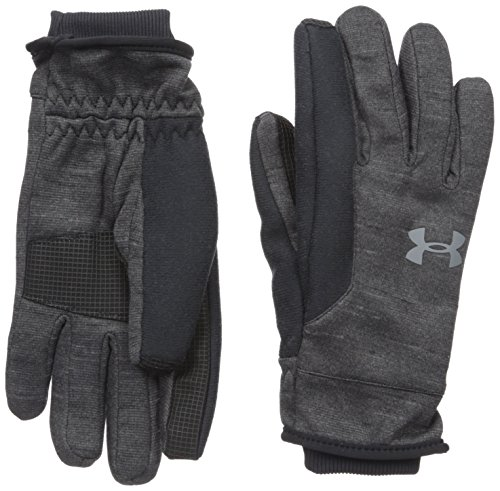 Under Armour Youth ColdGear Reactor Elements Gloves, Black (001)/Graphite, Youth Medium