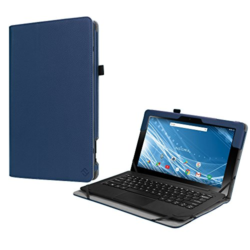 Fintie Folio Case for Insignia 11.6 Tablet (NS-P11A8100/NS-P11W7100), Slim Fit Premium Vegan Leather Stand Cover with Stylus Holder for 11.6-Inch Insignia Flex Hybrid Tablet, Navy