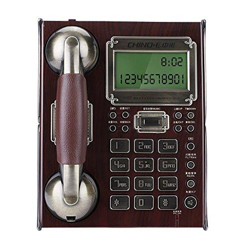 [해외]Richer-R 디지털 무선 전화기 유럽 앤틱 빈티지 유선전화 유선전화 가정용 전화 탑재 (레드) / Richer-R Digital Cordless Phone European Antique Vintage Landline Landline Home Phone Mount (Red)