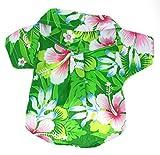 Casual Hawaiian Beach Green Floral Shirt Dog Clothes For Cat Dog Puppy Pet (8)