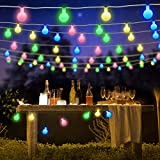 BlueFire String Lights Battery Powered, 7M 50 LED Globe Fairy Lights with Remote Control Timer 8 Lighting Modes Christmas Lights for Indoor Outdoor Home Garden (Multi-color)