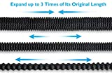 50FT Expandable Garden Hose – PEGZOS Expanding Water Hose with New Improved Triple Latex Core, Extra Strength Outside Webbing, Solid Brass Connector for Car Outdoor Lawn Use (50 ft, Black)