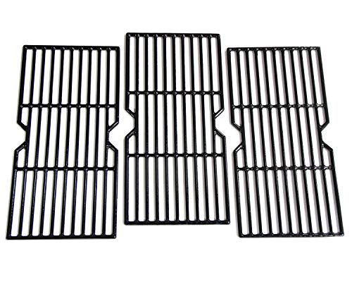 Hongso PCF123 Porcelain Coated Cast Iron Cooking Grid Grates Replacement for Charbroil Advantage 463343015, 463344015, 463344116, Kenmore, Broil King Gas Grill Models, G467-0002-W1, 16 15/16