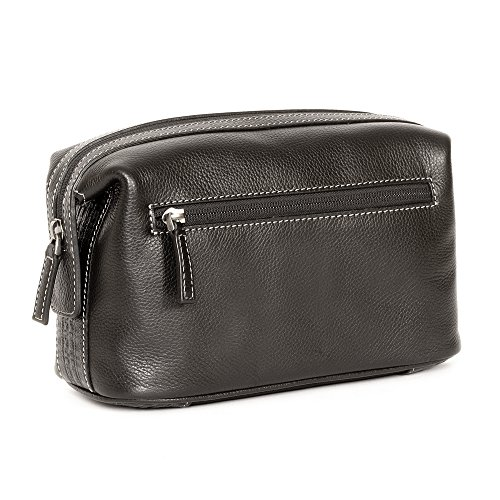 boconi-tyler-cargo-travel-kit-black-w-plaid