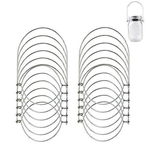 12 Pack Stainless Steel Wire Handles for Regular Mouth Mason, Ball, Canning Jars Hanger, Hanging Jars, Jar hanging Hook