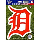 MLB Detroit Tigers 82766010 Die Cut Logo Magnet, Small, Black by Pro-Motion Distributing - Direct