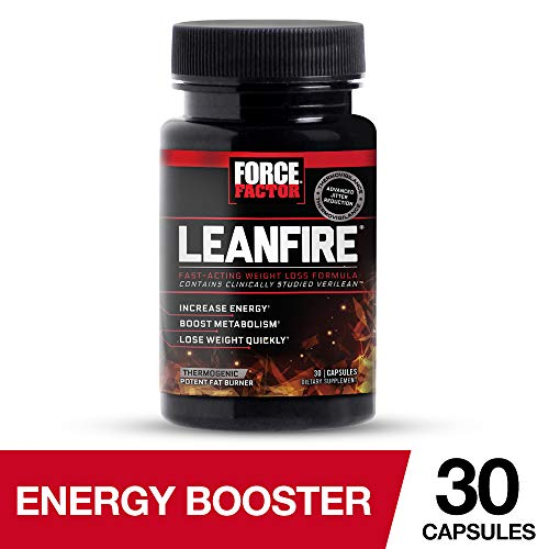 Force Factor LeanFire Thermogenic Weight Loss Supplement to Increase Energy, Help Suppress Appetite, Enhance Mental Clarity, Support Fat Oxidation, and Preserve Lean Muscle, 30 Count
