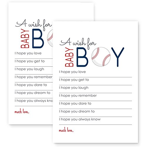 Baseball Wishes for Baby Boy Shower Game Set of (All Star Keepsake Box)
