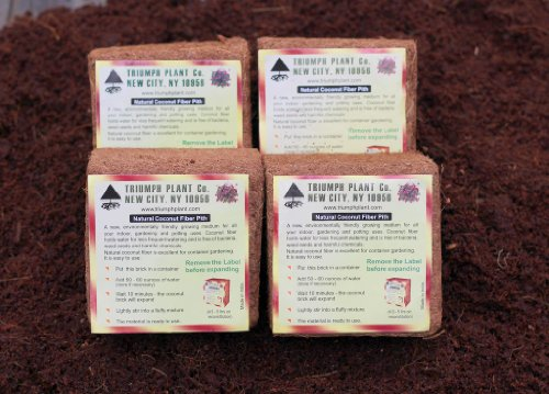 Coconut Coir Fiber - 4 Pack of Convenient Blocks - All Natural and Environmentally Friendly Coconut Peat