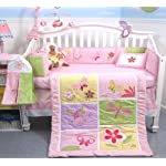 SoHo-Baby-Crib-Reversible-Bedding-10Pc-Set-Pink