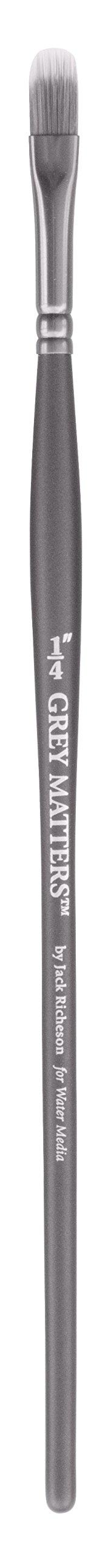 Jack Richeson Richeson Grey Matters Synthetic Filbert Rake 1/4'' by Jack Richeson