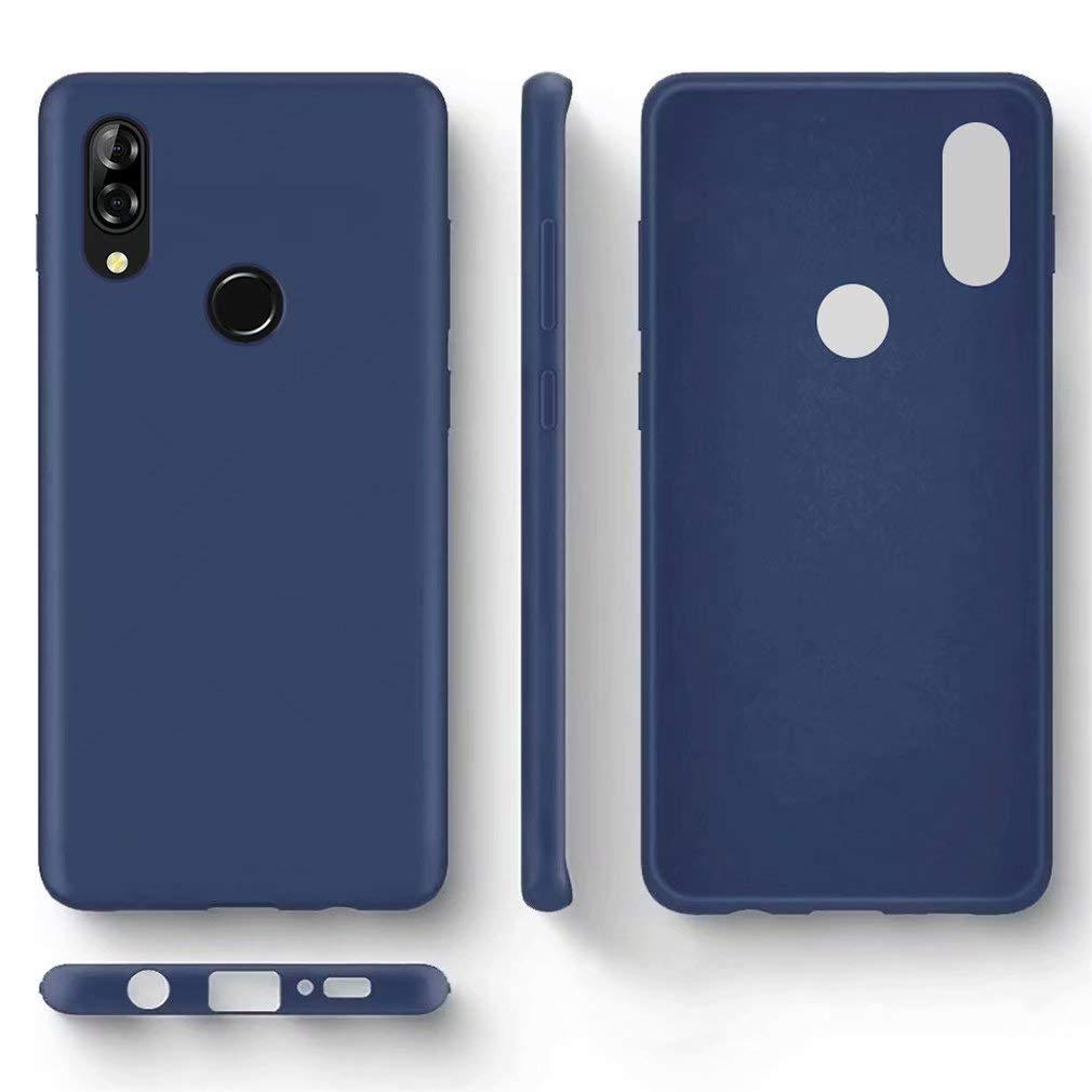 FHXD Compatible con Funda Xiaomi Redmi Note 8 Suave TPU Silicona L/íquida Cubierta Anti-Scratch Anti-Shock Antideslizante Caso C/áscara-Azul