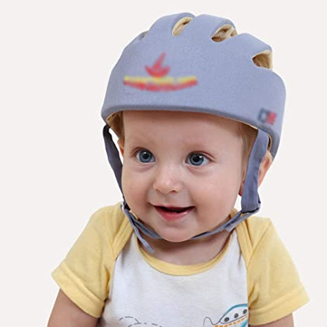 Edelehu Protección para La Cabeza Bebé Casco De Seguridad para Niños Casco De Seguridad para Bebés Ajustable Usado para Caminar En Interiores Gatear Niños ...