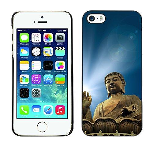 Premio Sottile Slim Cassa Custodia Case Cover Shell // V00001628 buddha illumination // Apple iPhone 5 5S 5G
