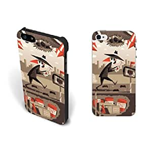Personalized Design Iphone 5 Case Cover Funny Design Custom Hard Plastic Iphone 5s Cases for Men Protective