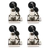 BTMB 4 Pcs Metal Office Desk Lock Funiture Cylinder Drawer Cabinet Desk Cam Lock w 8 Keys(Keyed Different)
