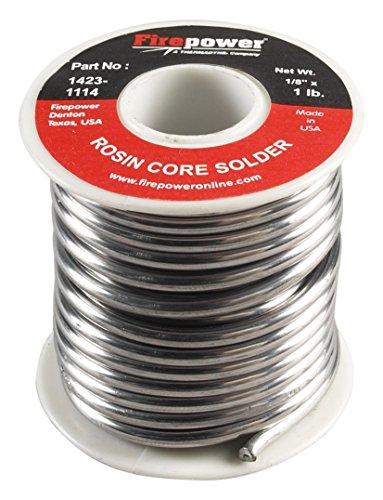 (Firepower 1423-1114 Rosin Flux Core 40/60 Solder, 1/8-Inch x 1-Pound)