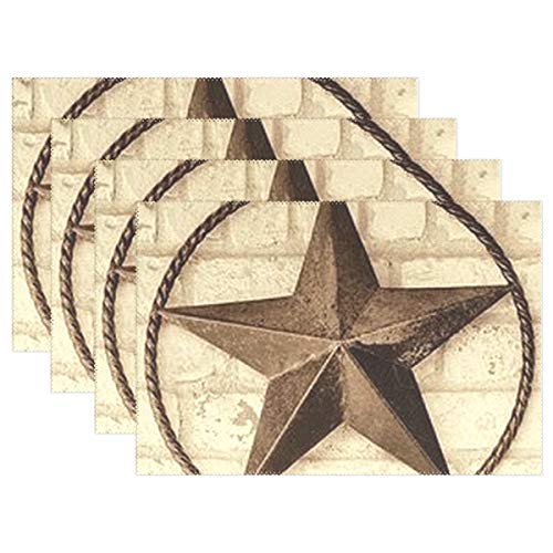 Jojogood Texas Star Icon Placemat Dining Table Mat 12