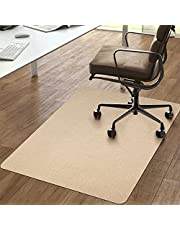 """Vicwe Chair Mat, 1/6"""" Thick 36""""x56"""" Office Home Chair Mat for Hard Floor Protection, Anti-Slip, Multi-Purpose Floor Mat for Porch, Study,Restauran,Office (Khaki)"""