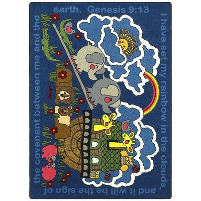 Faith Based Rainbow's Promise Kids Rug Rug Size: 7'8'' x 10'9'' by Joy Carpets