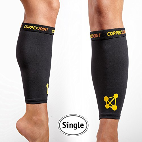 CopperJoint Unisex Copper Infused Calf Compression Sleeve, Large, Single