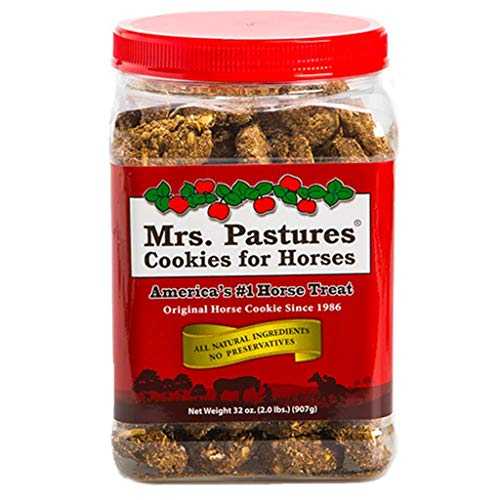 Mrs Pastures Horse Cookies - America's #1 Treat Mrs. Pastures 32 oz Jar All Natural Horse Pony Cookies Treats