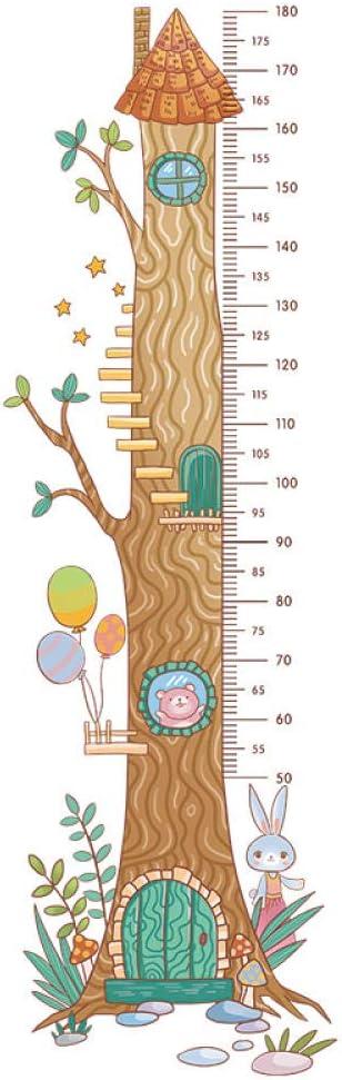 Guooe Pegatinas Pared Decorativas Habitacion Niña Bebe Conejito Oso Casa Del Árbol Medidor Decorar Decoración Vinilos Adhesiva Desmontable Desmontable Bricolaje Dormitorios Crecimiento