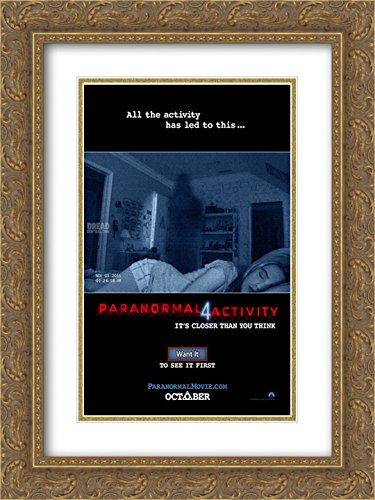Paranormal Activity 4 18x24 Double Matted Gold Ornate Framed Movie Poster Art Print by ArtDirect