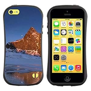 Suave TPU GEL Carcasa Funda Silicona Blando Estuche Caso de protección (para) Apple Iphone 5C / CECELL Phone case / / Nature Moon Mountain /