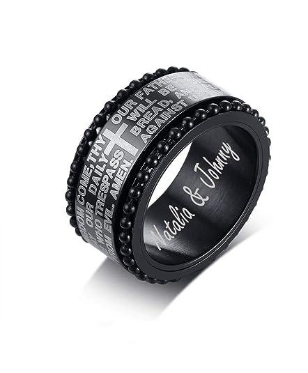 Amazon.com: Mealguet Jewelry - Anillo de boda para hombre ...