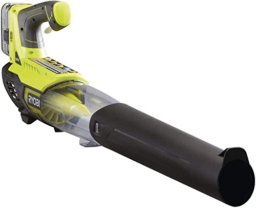 RYOBI ONE 100 MPH 280 CFM Variable-Speed 18-Volt Lithium-Ion Cordless Jet Fan Leaf Blower 4Ah Battery and Charger Included
