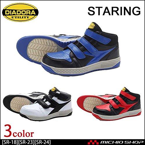 ディアドラ 安全靴 スターリング STARLING セーフティスニーカー SR-18 SR-23 SR-24Color:ブラックレッド[SR-23] 24.0 B07BJZ3CKJ 24
