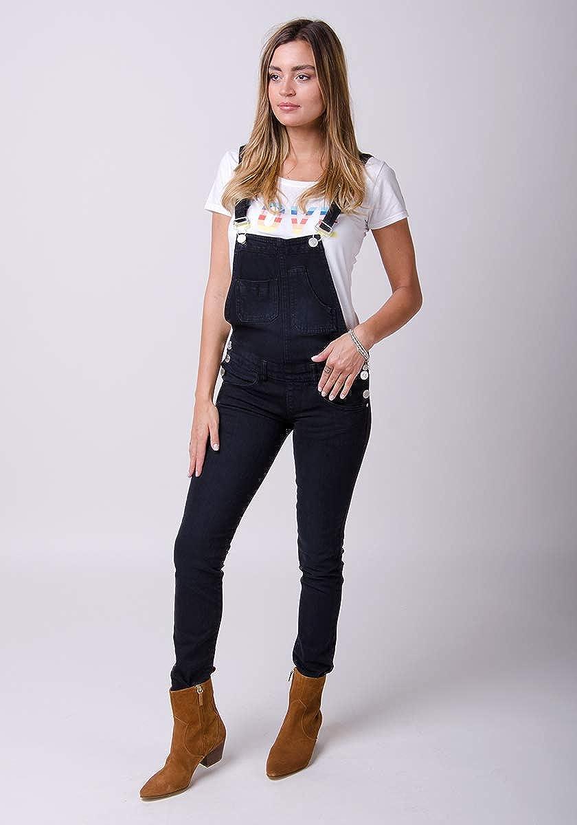 Nero Salopette Taglio Skinny Overalls TALIA1BLACK Wash Clothing Company Salopette Donna