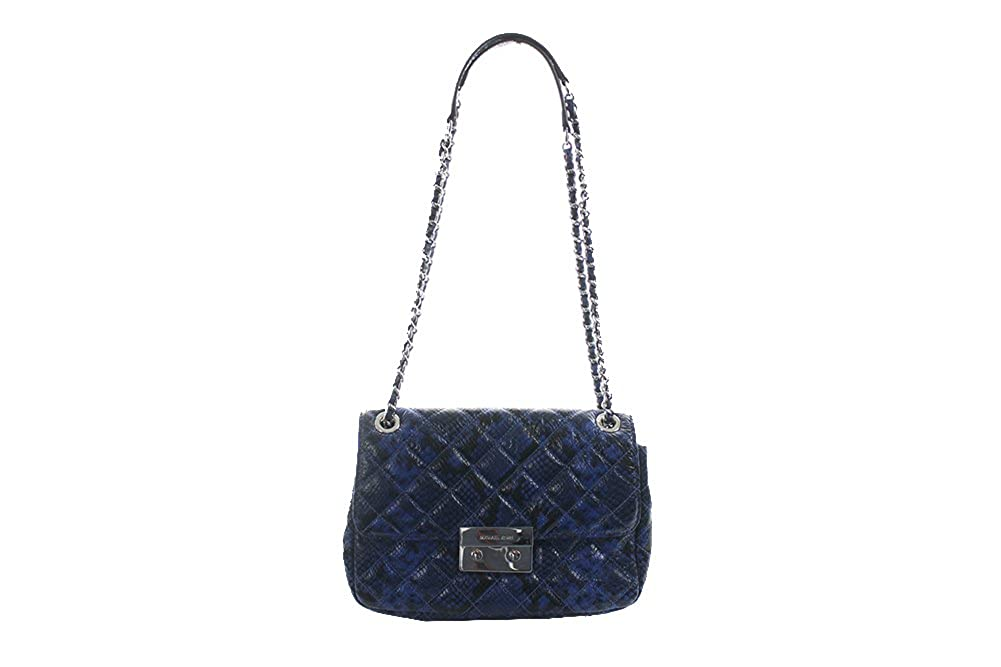 38a6879089f7 MICHAEL Michael Kors Womens Sloan Large Chain Shoulder Bag (Electric  Blue/silver): Handbags: Amazon.com