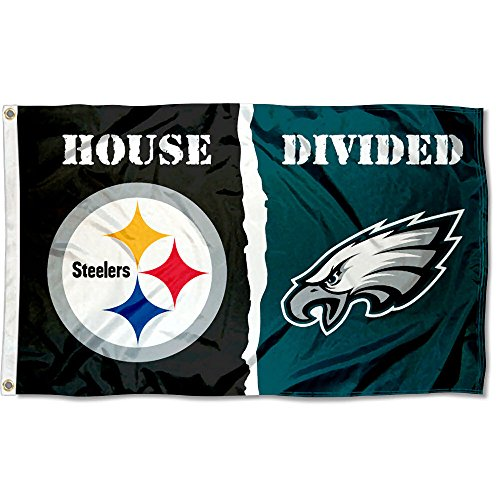 (WinCraft Pittsburgh Steelers and Philadelphia Eagles House Divided Flag )
