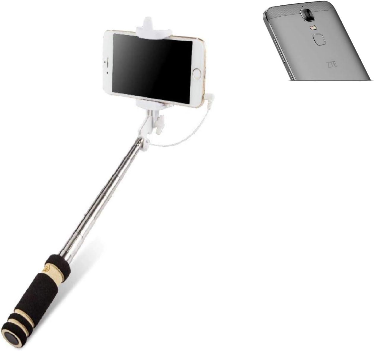 K-S-Trade Selfie Stick palillo para ZTE Blade A610 Plus, Negro ...