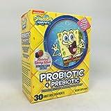 SpongeBob Squarepants Probiotic and Prebiotic 30 Count per Bottle (11 Pack)